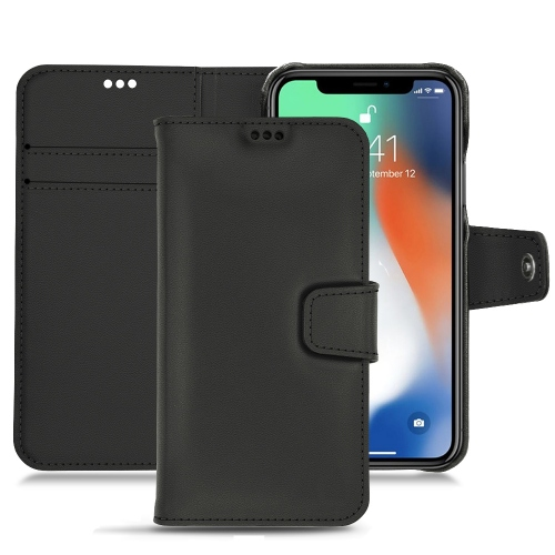 レザーケース Apple iPhone Xs Max - Noir PU