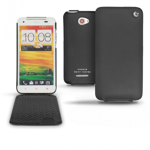 HTC Butterfly  leather case - Noir ( Nappa - Black )