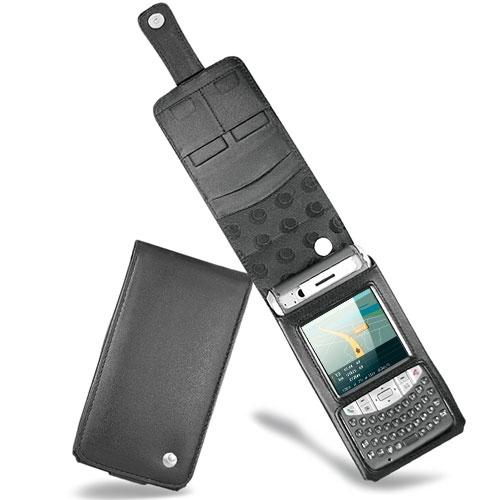 Housse cuir Fujitsu-Siemens Loox T810 - T830  - Noir ( Nappa - Black )