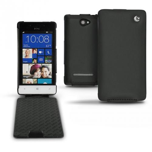 HTC Windows Phone 8S  leather case - Noir ( Nappa - Black )
