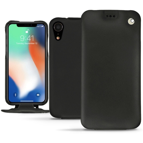 Apple iPhone Xr leather case - Noir ( Nappa - Black )