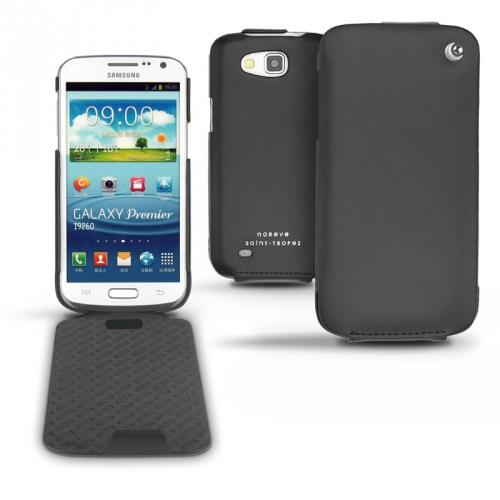 Samsung GT-i9260 Galaxy Premier  leather case - Noir ( Nappa - Black )