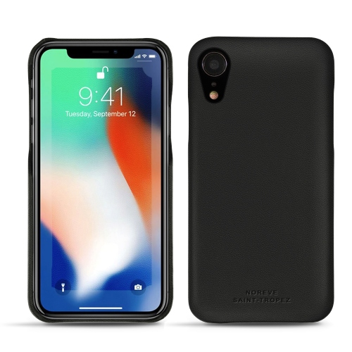 Coque cuir Apple iPhone Xr - Noir PU
