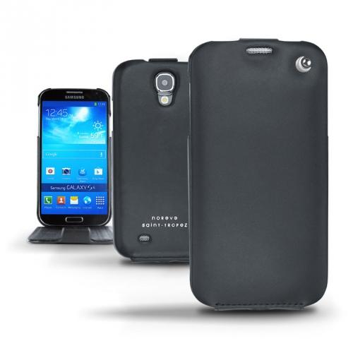 Capa em pele Samsung GT-i9500 Galaxy S IV  - Noir ( Nappa - Black )