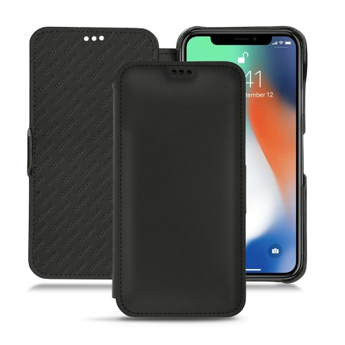가죽 커버 Apple iPhone Xr - Noir PU