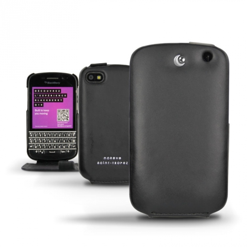 BlackBerry Q10  leather case - Noir ( Nappa - Black )