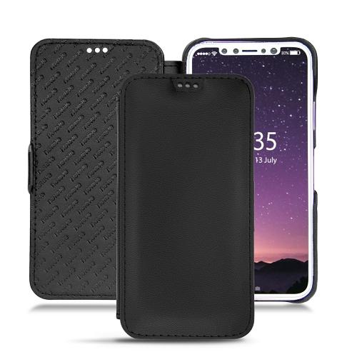 Apple iPhone X leather case - Noir PU
