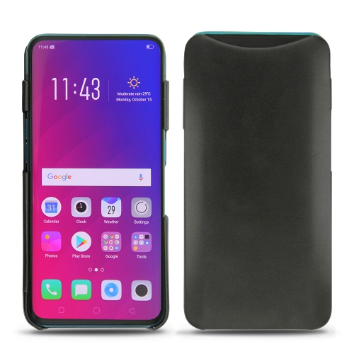 Coque cuir Oppo Find X