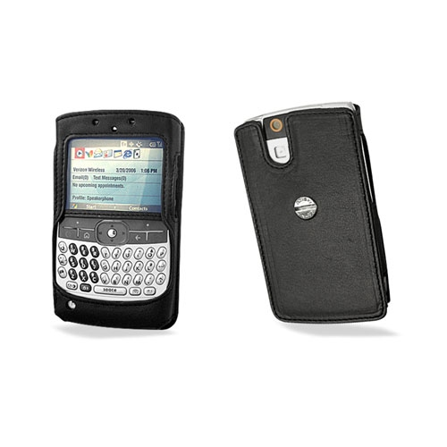 Motorola Q  Design B leather case - Noir ( Nappa - Black )