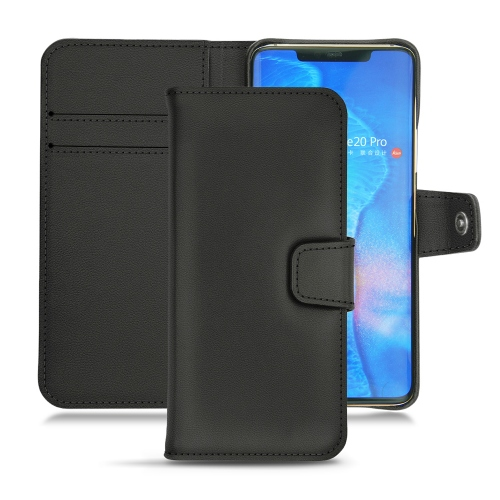 Huawei Mate 20 Pro leather case - Noir PU