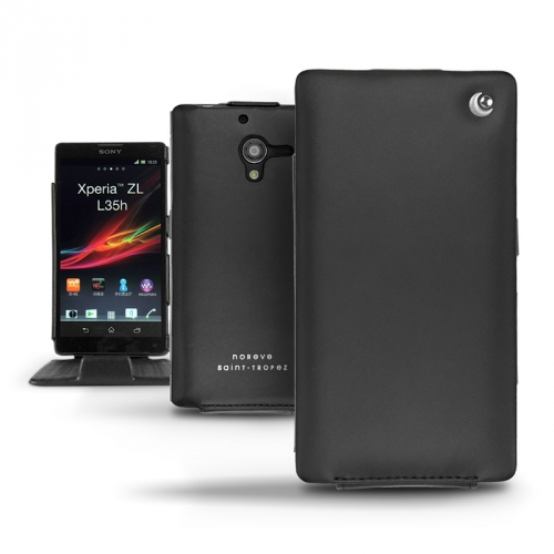 Sony Xperia ZL  leather case - Noir ( Nappa - Black )