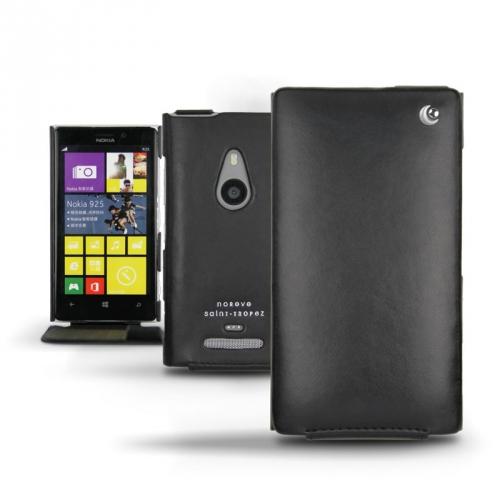 Nokia Lumia 925  leather case - Noir ( Nappa - Black )