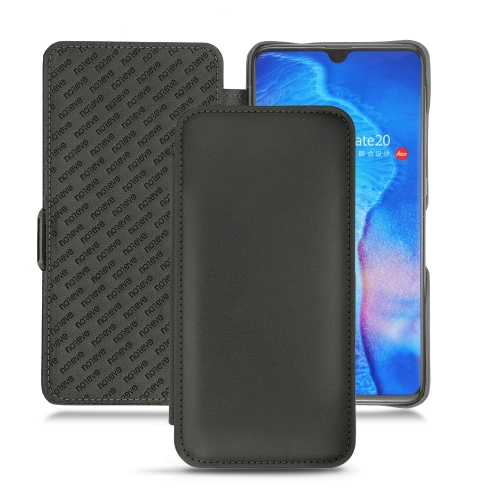 Huawei Mate 20 leather case - Noir PU