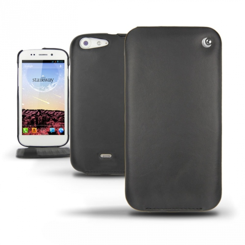 Wiko Stairway  leather case - Noir ( Nappa - Black )