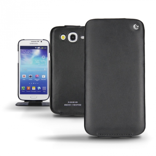 Samsung GT-i9150 Galaxy Mega 5.8  leather case - Noir ( Nappa - Black )