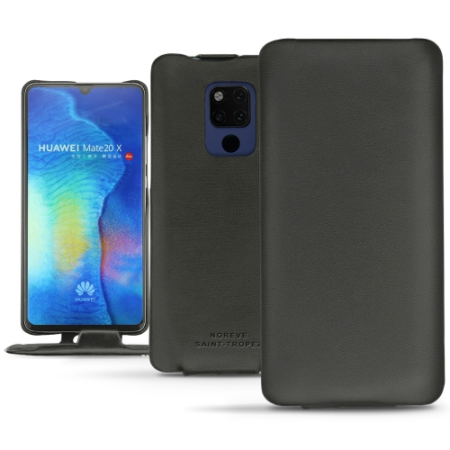 Huawei Mate 20 X leather case - Noir PU