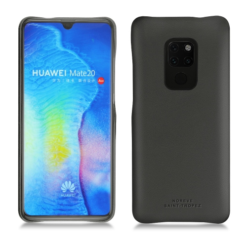Huawei Mate 20 leather cover - Noir PU