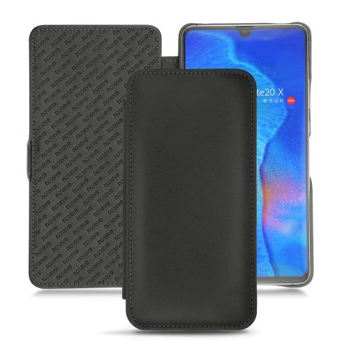 HuaweiMate 20 X leather case - Noir PU