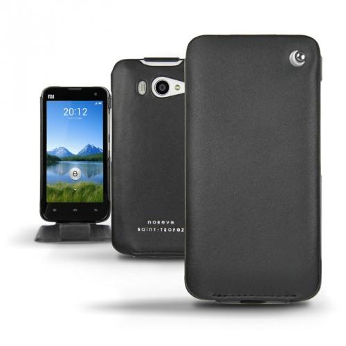 Xiaomi MI-2s  leather case - Noir ( Nappa - Black )