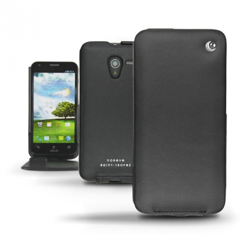 Asus Padfone 2 Smartphone  leather case - Noir ( Nappa - Black )