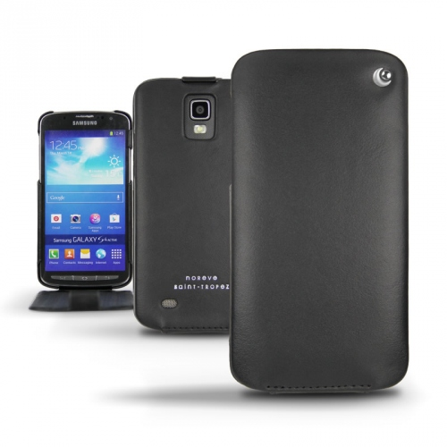 Samsung GT-i9295 Galaxy S4 Active  leather case - Noir ( Nappa - Black )