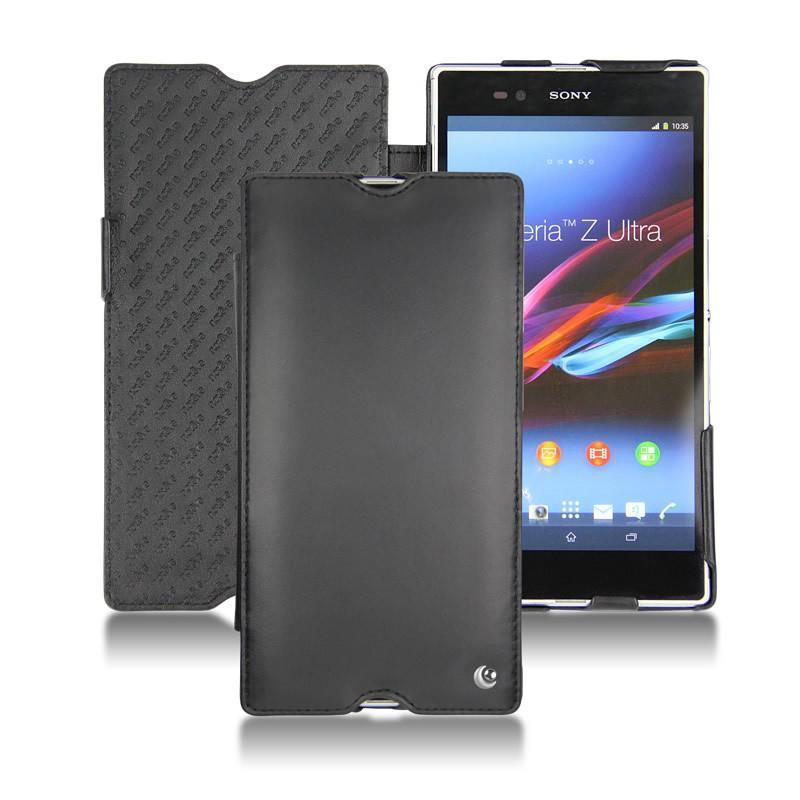 Etui cuir grainé Noir Sony Xperia Z5 s60OiCzyZh