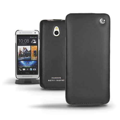 Housse cuir HTC One mini  - Noir ( Nappa - Black )