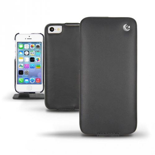 Apple iPhone 5C  leather case - Noir ( Nappa - Black )