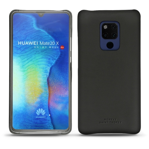 Huawei Mate 20 X leather cover - Noir PU