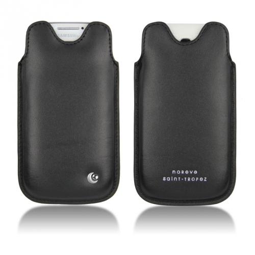 Housse cuir Samsung GT-i9190 Galaxy S4 mini - Noir ( Nappa - Black )