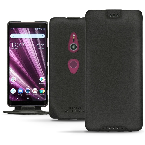 Sony Xperia XZ3 leather case - Noir PU